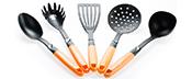 Ополоники, лопатки, виделки кухонні