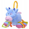 Игрушка плюшевая One Two Fun My soft toys rattle Голубой слоник – фото 3