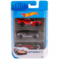 Набор машинок Hot Wheels: красная, серая, бордовая, 3 шт.