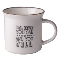 Чашка фарфоровая Excellent Houseware Believe You Can, 340 мл