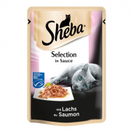 Корм для котов Sheba Selection in Sauce С лососем, в соусе, 85 г