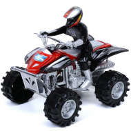 Квадроцикл с водителем Friction quad красный