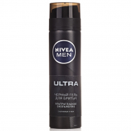 Гель для бритья Nivea Men Ultra черный, 200 мл
