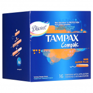 Тампоны Tampax Compak Super Plus, 16 шт.