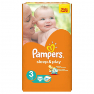 Подгузники Pampers Sleep&Play 3, 6-10 кг, 58 шт.