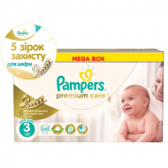 Подгузники Pampers Premium Care 3 Midi, 5-9 кг, 120 шт.
