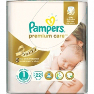 Подгузники Pampers Premium Care New Born 1, 2-5 кг, 22 шт.