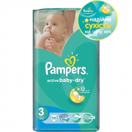 Подгузники Pampers Active Baby Dry Midi, 58 шт.