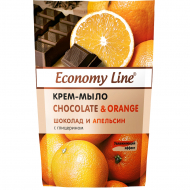 Крем-мыло Economy Line Chocolate & Orange, 460 мл