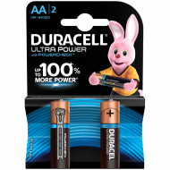 Щелочные батарейки Duracell Ultra Power AA, 1,5В, LR6, 2 шт.
