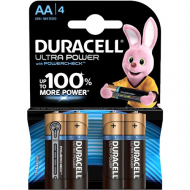 Щелочные батарейки Duracell Ultra Power AA, 1,5В, LR6, 4 шт.