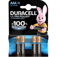 Щелочные батарейки Duracell Ultra Power AAА, 1,5В, LR6, 4 шт.