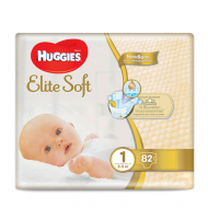 Подгузники Huggies Elite Soft 1, 2-5 кг, 82 шт.