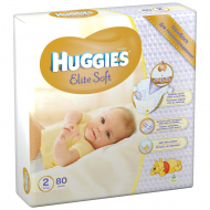 Подгузники Huggies Elite Soft 2, 4-7 кг, 80 шт.