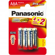Батарейки Panasonic Pro Power LR03PPG/6B 4+2шт