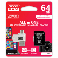 Карта памяти GoodRam MicroSDXC 64GB UHS-I + adapter