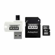 Карта памяти GoodRam microSDHC 8GB Class 4 + SD-adapter