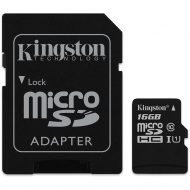 Карта памяти Kingston microSDHC 16GB Class 10 UHS-I R80MB/s + SD-adapter