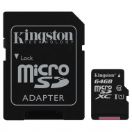 Карта памяти Kingston microSDXC 64GB Class 10 UHS-I R80MB/s + SD-adapter