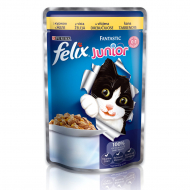 Корм для котов Purina Felix Junior Fantastic с курицей, в желе, 100 г