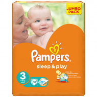 Подгузники Pampers Sleep&Play 3, 6-10 кг, 78 шт.