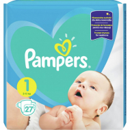 Подгузники Pampers New Baby 1, 2-5 кг, 27 шт.