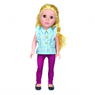 Кукла One Two Fun Love To Style Doll в фиолетовых штанах, 46 см