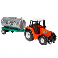 Трактор One Two Fun Tractor+Trailer, 18 см, в ассортименте