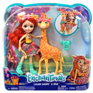 Кукла в наборе Enchantimals Gillian Giraffe and Pawl