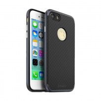 Чехол-накладка iPaky (OR) Carbon TPU + Bumper for iPhone 5 Grey