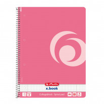Блокнот Herlitz Colour Blocking Indonesia Pink А4 розовый, 80 листов