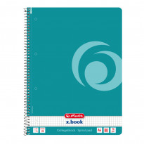 Блокнот Herlitz Colour Blocking Caribbean Turquoise А4 бирюзовый, 80 листов