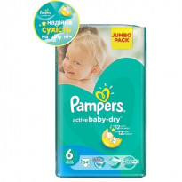 Підгузки Pampers Active Baby Dry 6, 54 шт.