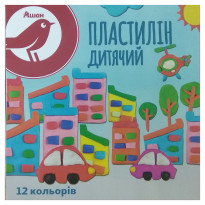 Пластилин Auchan Red Bird, 12 цветов