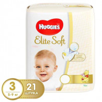 Подгузники Huggies Elite Soft 3, 4-9кг, 21 шт.