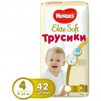 Подгузники Huggies Elite Soft 4 Pants Mega, 9-14 кг, 42 шт.