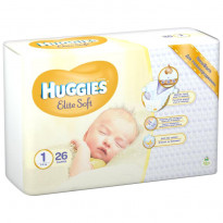 Подгузники Huggies Elite Soft 1, 2-5 кг, 26 шт.