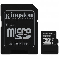 Карта памяти Kingston microSDHC 32GB Class 10 UHS-I R80MB/s + SD-адаптер