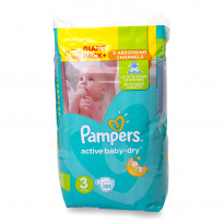 Підгузки Pampers Active Baby Dry 3, 124 шт.