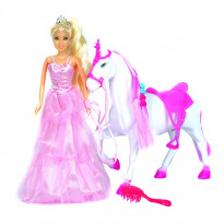 Фигурка One Two Fun My Princess with horse 889345, розовая