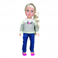 Кукла One Two Fun Love To Style Doll в синих штанах, 46 см