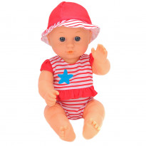 Пупс One Two Fun My Baby's Beach Set 894394 красный