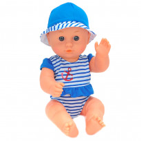 Пупс One Two Fun My Baby's Beach Set 894394 синий