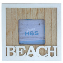 Фоторамка H&S Collection Beach DH9107060, 6,5х6,5 см, белая