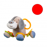 Іграшка плюшева One Two Fun My soft toys rattle Червоний котик