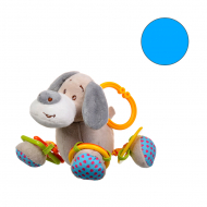 Іграшка плюшева One Two Fun My soft toys rattle Блакитний слоник