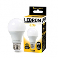 Лампа LED Lebron L-A60 8W Е27 3000K