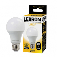 Лампа LED Lebron L-A60 12W Е27 3000K