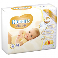 Підгузки Huggies Elite Soft 2, 4-6 кг, 24 шт.