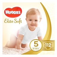 Підгузки Huggies Elite Soft, 5, 12-22 кг, 112 шт.